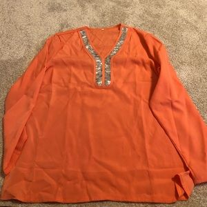 Sequin collared top
